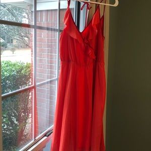 Red flutter dress